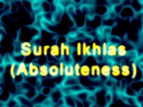 Surah Ikhlas -  Absoluteness
