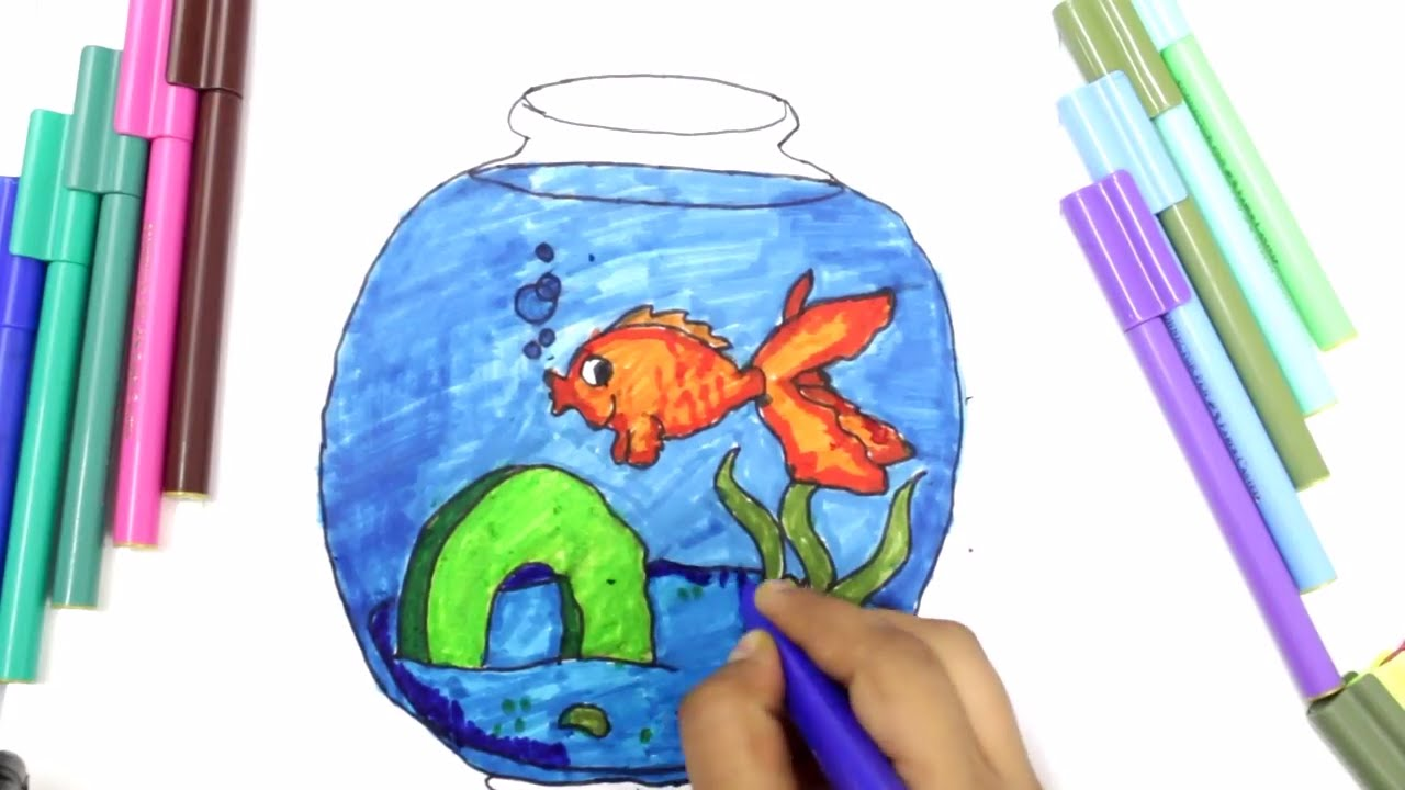 coloring fish aquarium for kids fish aquarium coloring pages for