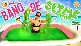 RETO: BAÑO de SLIME 🛶!!! - SLIME BATH CHALLENGE (Alberca de Slime) | Mariale thumbnail