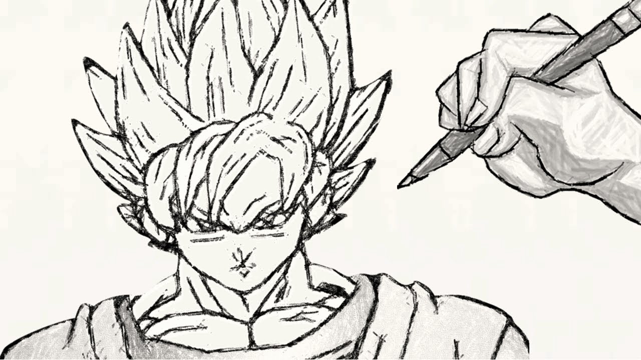 Comment dessiner goku super sa yen de dragon ball z youtube - Dessin de dragon ball super ...