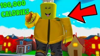 ROBLOX FAT SIMULATOR 2 *EATING 100,000 CALORIES*