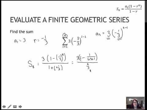 158 Evaluate Finite Geometric Series (8.3)