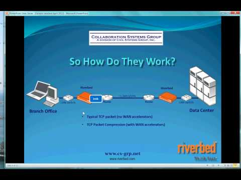 Riverbed Steelhead WAN accelerators -What do they do?