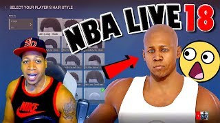 "SMALLEST ""HEAD"" EVER Face Scan - NBA Live 18 Demo Player Creation & Rucker Park Gameplay #1"