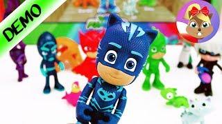 Moi nowi SUPERBOHATEROWIE | PJ Masks Delxue Figure Set | Zabawki polski | Baw się ze mną