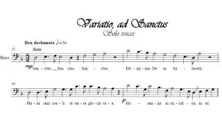 Sanctus - Benedictus from Missa solemnis for chorus, solo voices, and organ - Santino Cara
