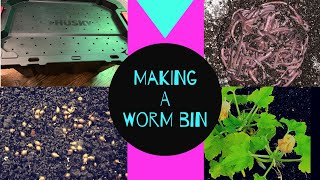 Worm Bin Basics Episode 1: How to Make a Worm Bin in Preparation for Your Cocoons or Worms to Arrive