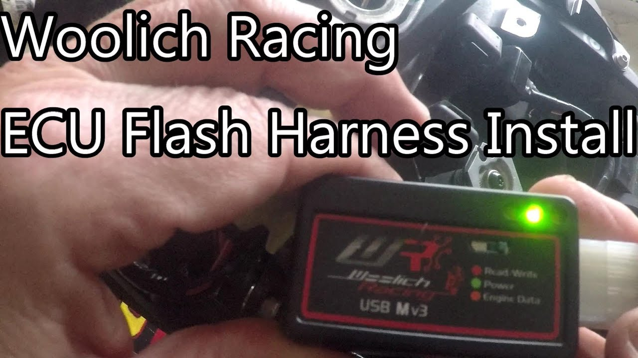 🔧 How to install Woolich Racing ECU Flash Bike Harness Kit on Gen 5 ZX10R  and ZX10RR