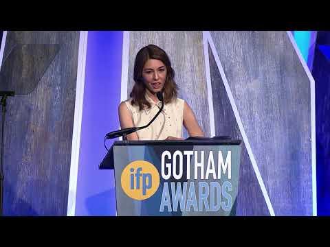 Sofia Coppola accepting a Gotham Tribute at the 2017 IFP Gotham Awards