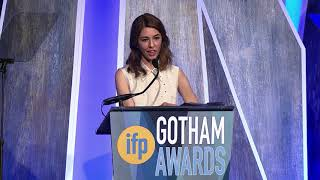 Sofia Coppola accepting a Gotham Tribute at the 2017 IFP Gotham Awards