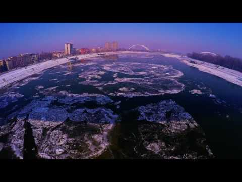 Frozen Danube - Time Lapse