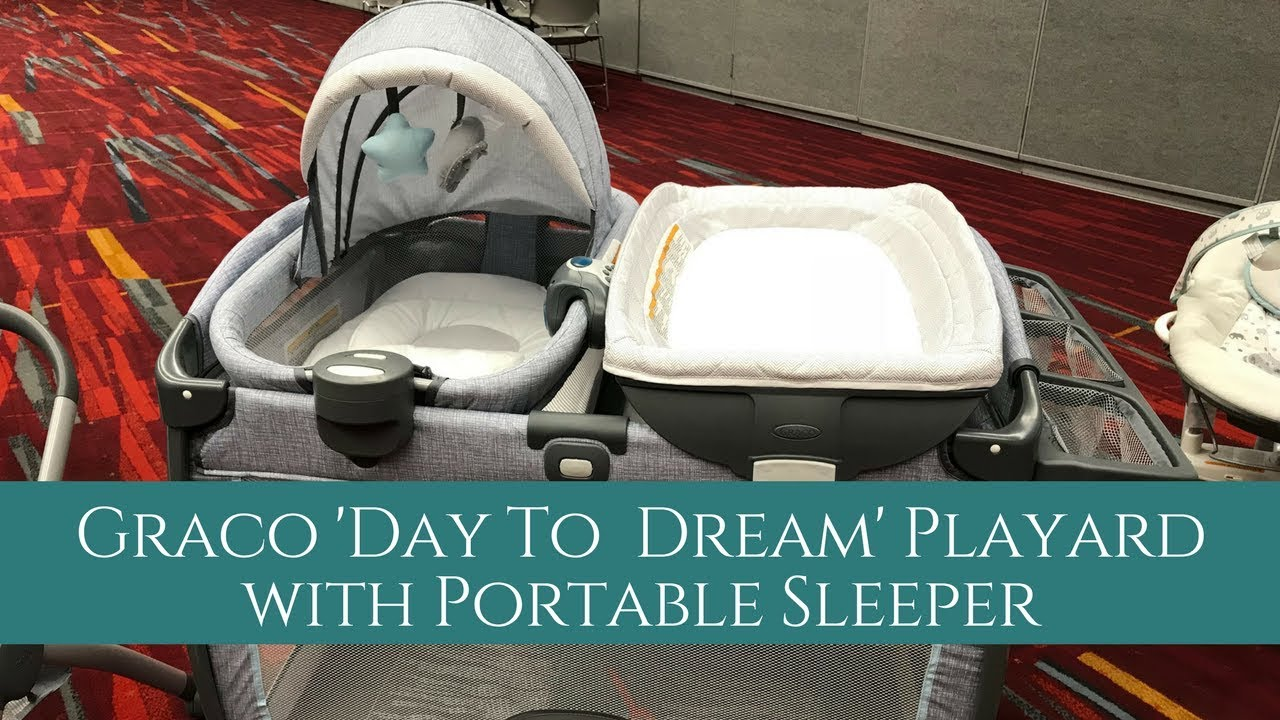 New Graco Day To Dream Playard With Portable Sleeper Abc Kids Expo 2017 Youtube