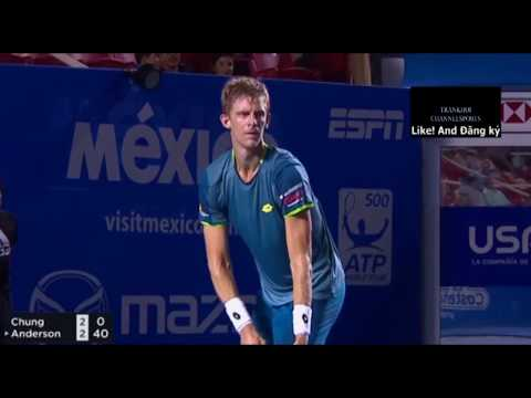 ACAPULCO 2018 QF Highlights Hyeon Chung vs Kevin Anderson: Kevin Anderson Defeats Hyeon Chung