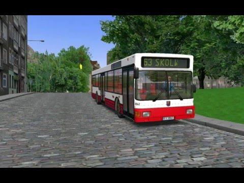 Omsi 2 .  bus simulator 2. LINE: 63  LINE: 111    .....i depo garaza.....