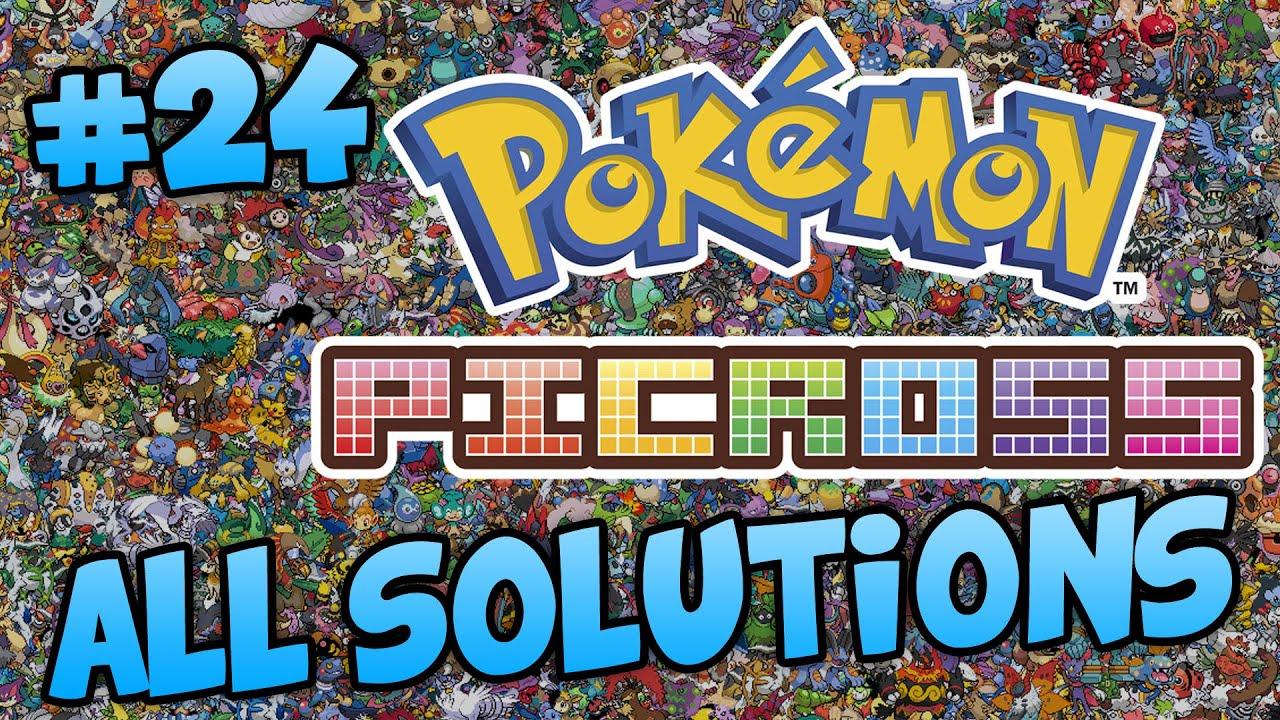 Pokemon picross area 24 all solutions victini youtube for Mural 1 pokemon picross