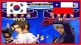 Kof 2000 - zdfn (south korea) vs DjP4nzhO (chile) 킹 오브 파이터 2000