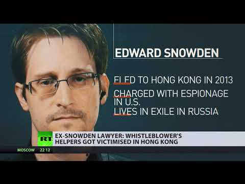 Ex-Snowden lawyer: Whistleblower's helpers got victimised in Hong Kong