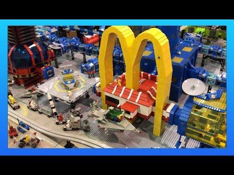 LEGO Train, City, Space Moonbase Monorail - DixieLUG at Model Train Show