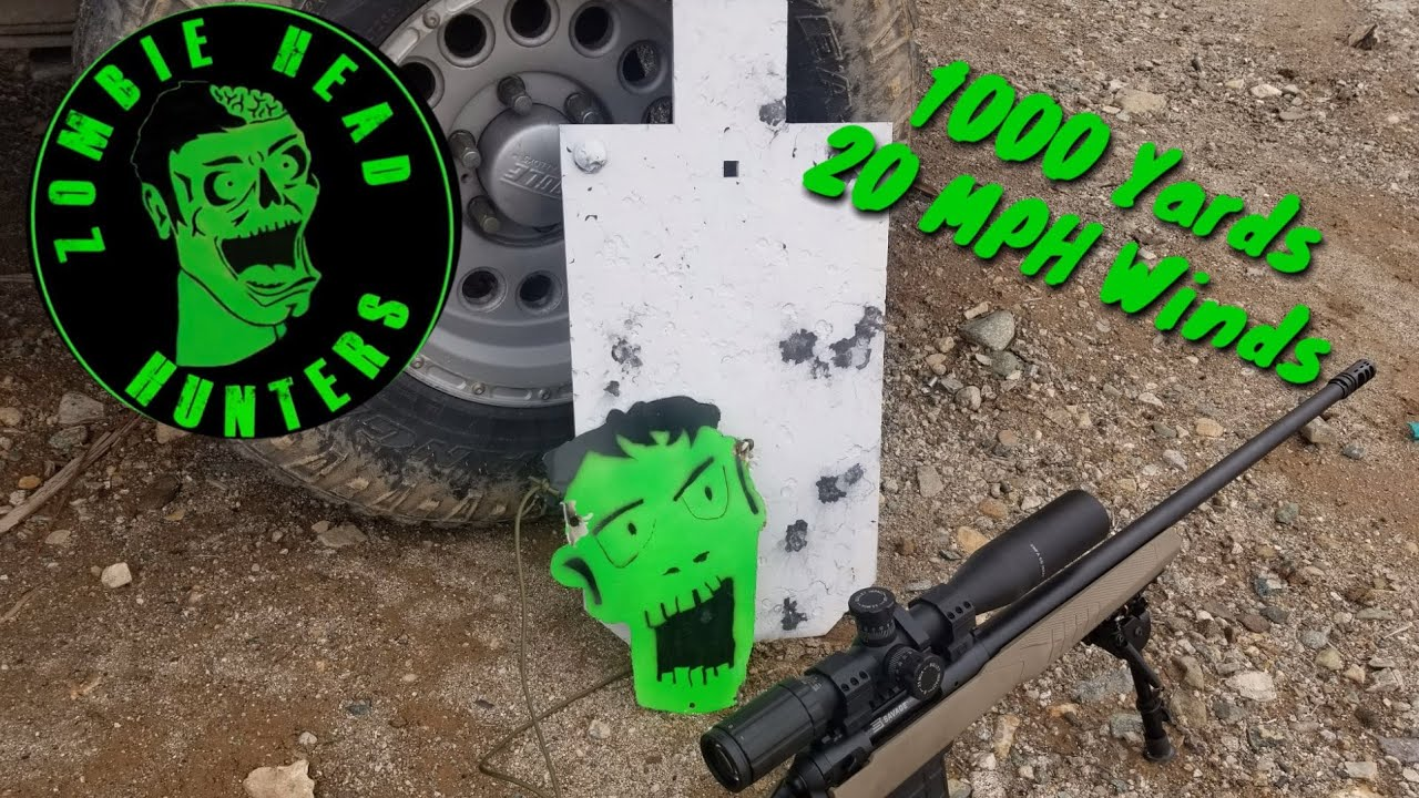 Take II 1000 Yard Zombie Head Challenge - 6.5 Creedmoor - 20 MPH Cross Winds