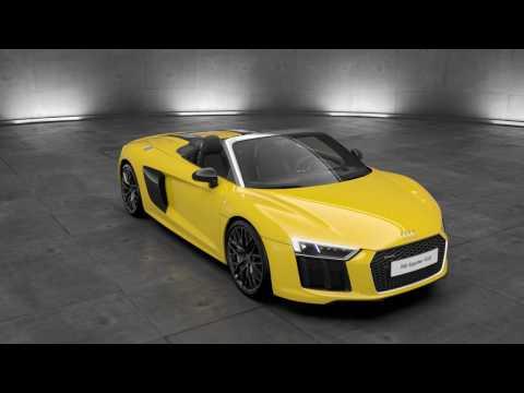 Audi R8 Spyder V10 phares LED - Animation 3D