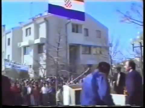 Benkovac 1990   Franjo Tuđman   Atentat