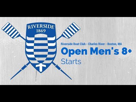 Riverside Boat Club Open Men's 8+ Starts (Coxswain Recording)