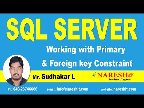 Working with Primary & Foreign key Constraint in SQL Server | MSSQL Training Tutorial