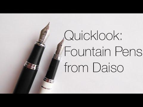 Daiso Fountain Pens!