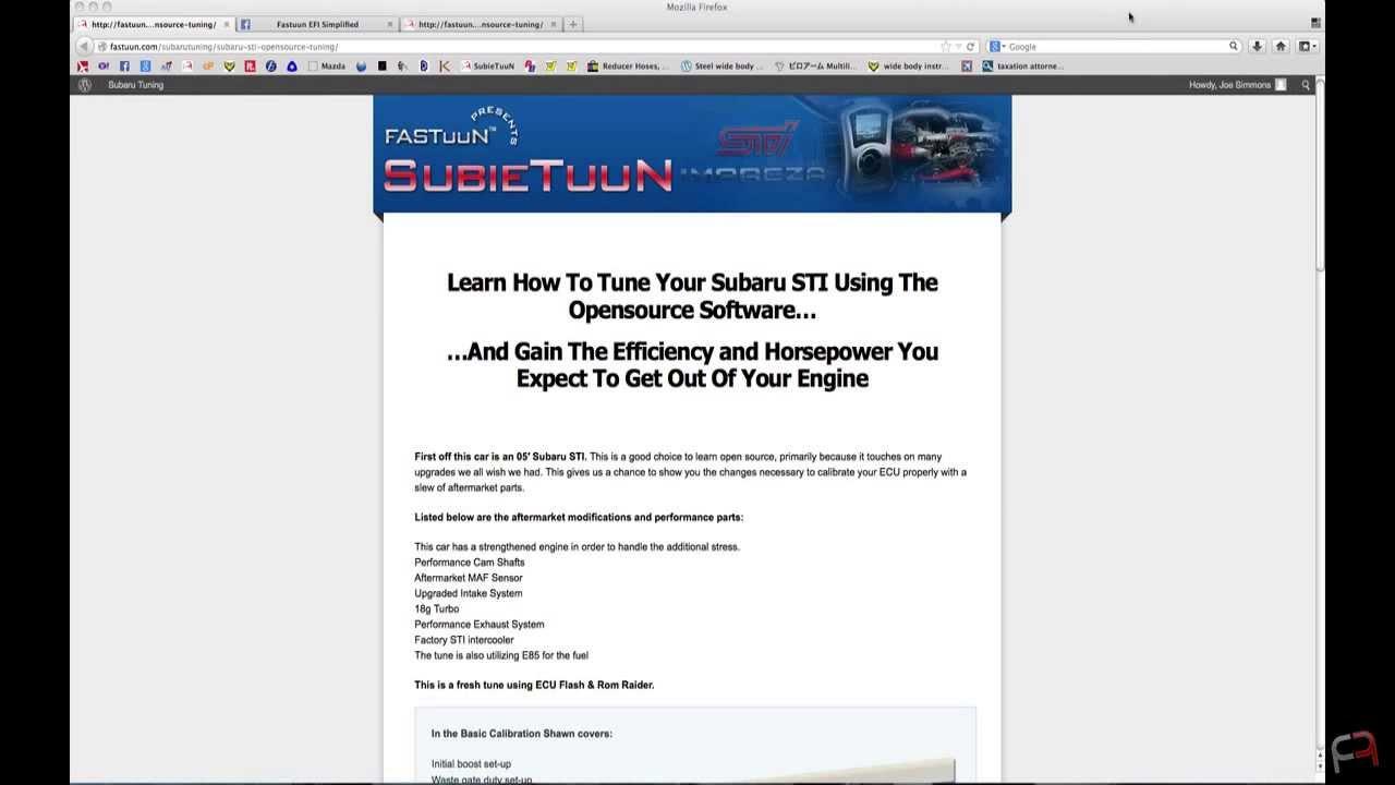 Subaru STI Opensource - Tuning With Subaru Opensource Software