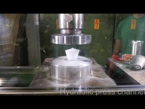 Ice special with hydraulic press