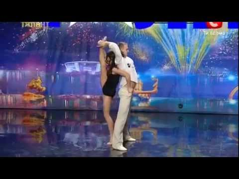 Duo Flame Dancers - Lara Fabian-Je t'aime @ Ukraine Got Talent