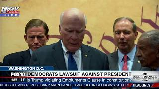 MUST WATCH: Democrats Sue President Trump Saying He Violated Emoluments Clause in Constitution (FNN)