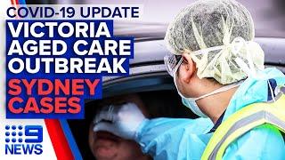 Coronavirus: Victoria aged care outbreak, New Sydney venue restrictions | 9 News Australia