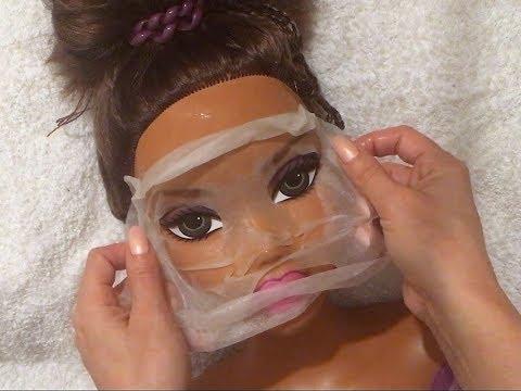 ASMR Doll Spa: Pampering / Skin & Ear Clearing / Moisturizing / Massaging, no talking