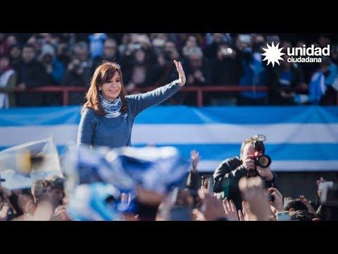 Cristina Kirchner y Unidad Ciudadana en Arsenal #unidosporlabandera