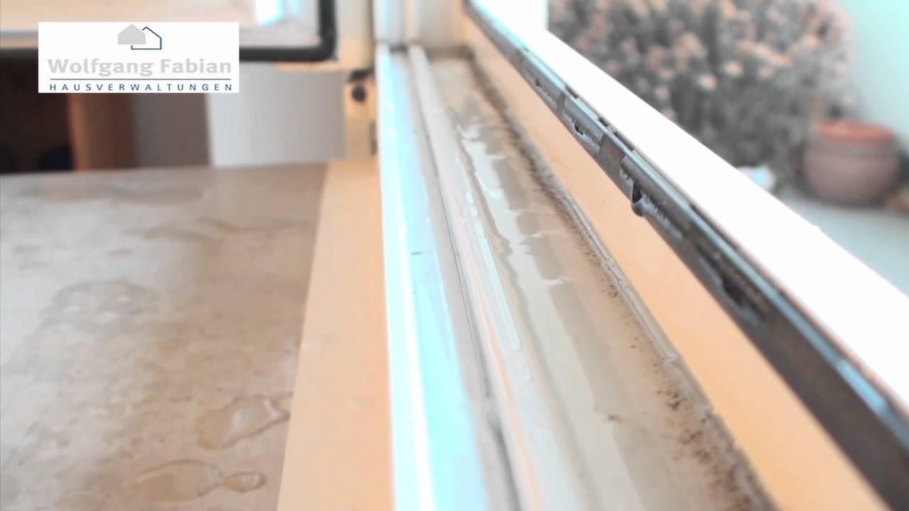 18 Fensterrahmen, Wasserablauf reinigen - YouTube