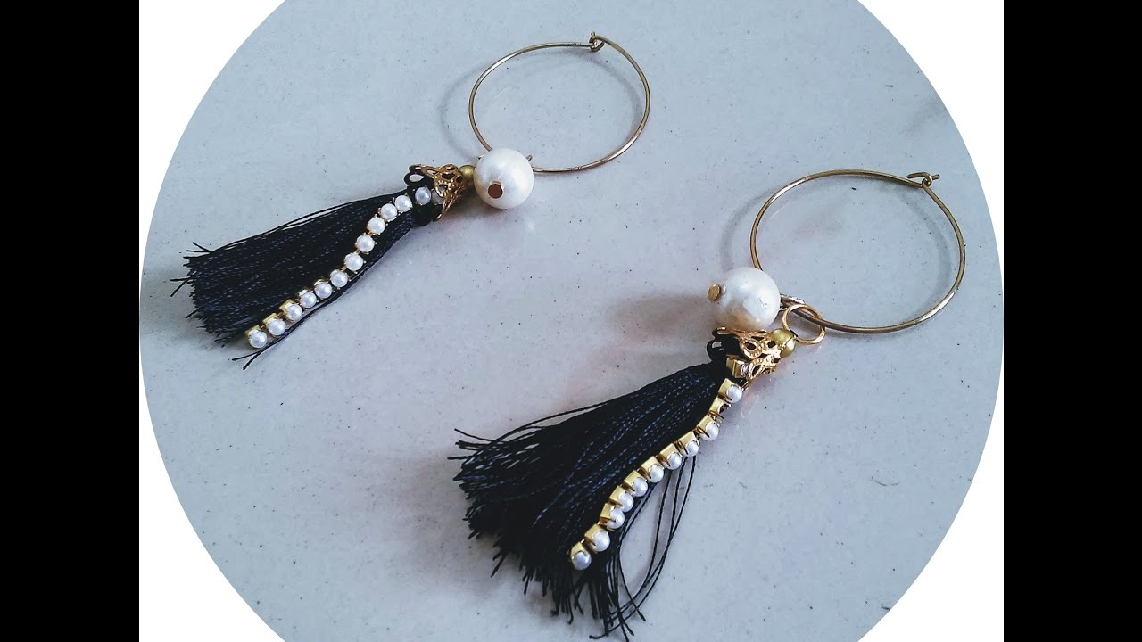 How to make tassel earrings diy silk thread