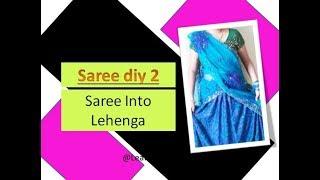SareeDiy2 Reuse old saree + petticoat into lehenga | Learning Process