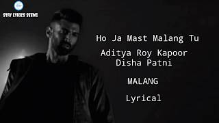 (Lyrical) Ho Ja Mast Malang Tu BY |DISHA PATTNI| MALANG