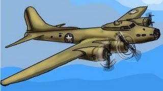 How to draw a Boeing B-17 Flying Fortress