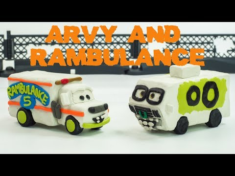 The Making of Arvy Motorhome & Dr Damage AKA Rambulance In Play Doh Claymation Stop-motion