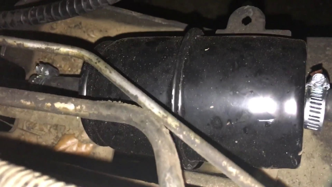 medium resolution of 1995 jeep yj changing the fuel filter 4 0 liter strait six engine youtube
