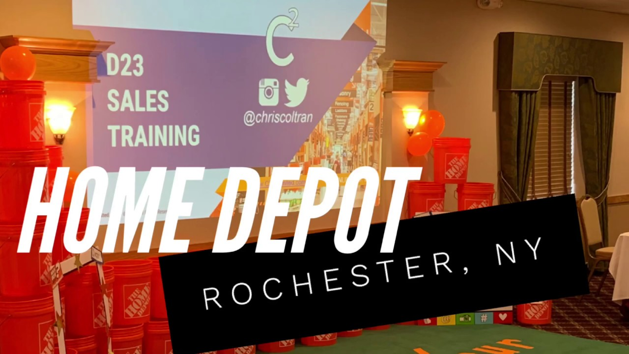 The Home Depot Sales Training In Rochester Ny With Master Trainer Chris Coltran Youtube