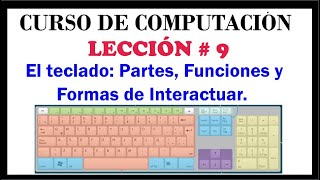 El teclado: Partes, Funciones y Formas de Interactuar con el Computador. Computación Básica Video #9