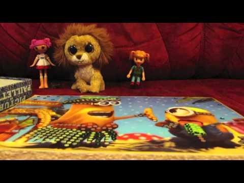 Cмотреть видео онлайн Picture of paillettes minions Картина из пайеток Миньоны