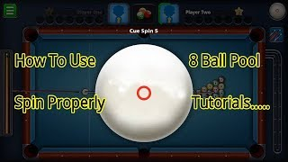How To Use Spin In 8 Ball Pool [Miniclip]