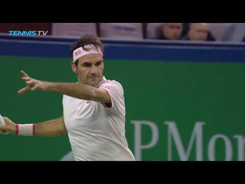 Roger Federer Great Shot Variety vs Bautista Agut | Shanghai 2018