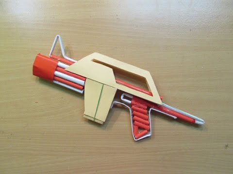 How to Make a Paper Airsoft Gun that Shoots Paper bullets - Easy Tutorials