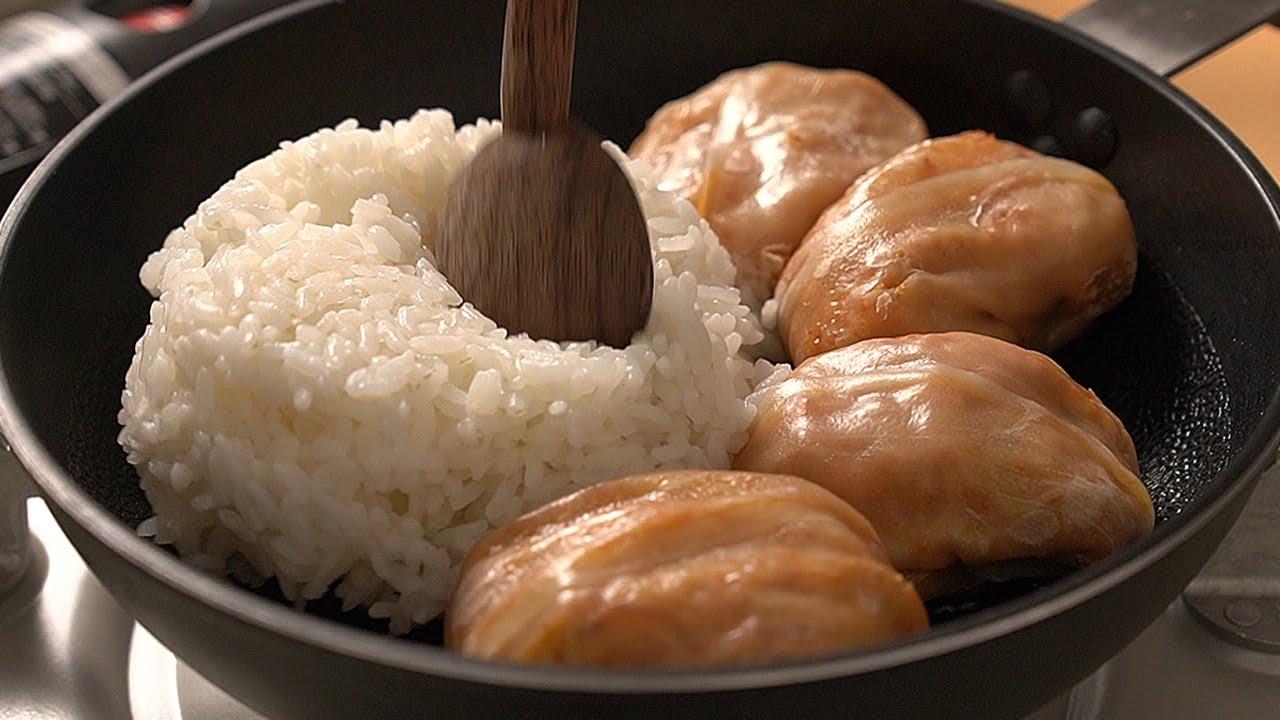 초간단 만두볶음밥 Dumplings Fried Rice