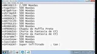 Todos os codigos livres do Club Penguin